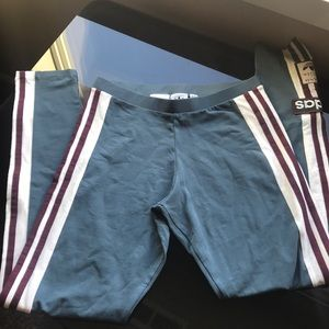 Adidas Teal blue and maroon leggings